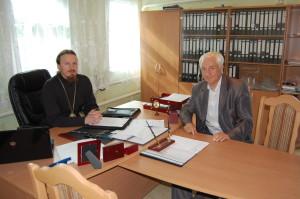 Рабочая встреча епископа Уваровского и главы Инжавинского района