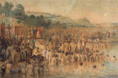 «Крещение Руси». В.Г.Перов, вторая половина 1870-х-начало 1880-х гг