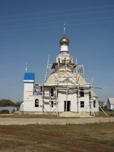 Строящийся храм с. Вольная Вершина Уваровского района