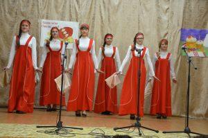 Ученицы Павлодарского филиала в хороводе Во поле берёза стояла